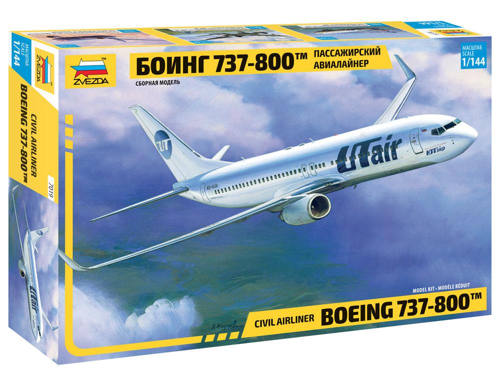 """7019  Boeing 737-800 """"Utair"""", Zvezda, Schaal 1/144"""
