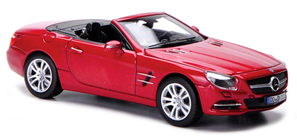 24041CR    2012 Mercedes-Benz SL500, rood, Welly