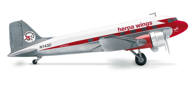 553803    Douglas DC-3 Herpa 75 years DC-3, Herpa Wings
