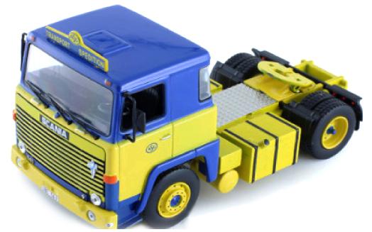 TR002  Scania LBT 141 1976, blauw/geel, Ixo