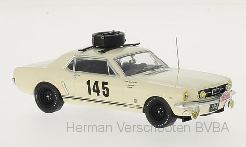 PRD316    Ford Mustang #145 Rally Monte Carlo 1966, Beige, PremiumX
