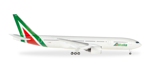 "530118    Boeing 777-200 ""Alitalia (new colors)"", Herpa Wings"