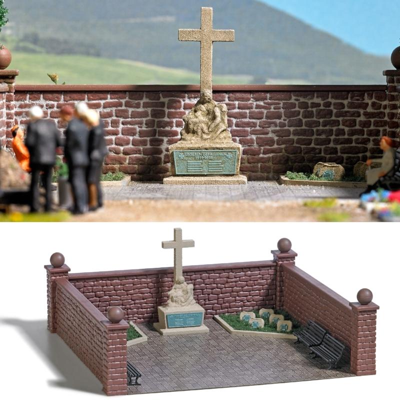 1094  Oorlogskerkhof met gedenksteen, Busch