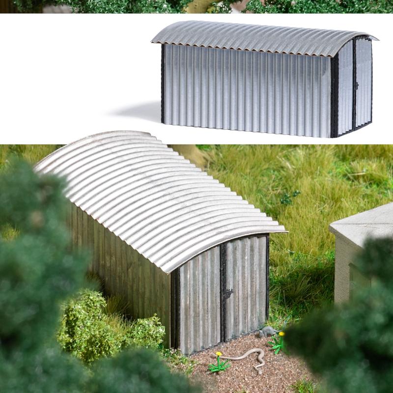 1592  Garage met metalen dak, Busch