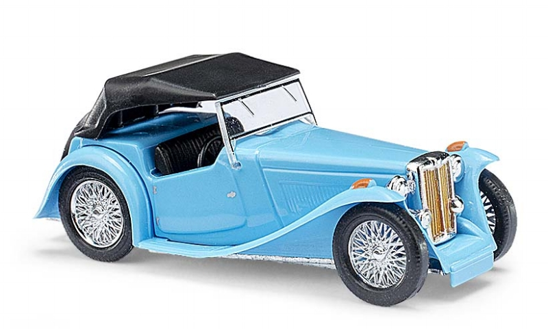 45912  MG Midget TC, Cabrio gesloten, blauw, Busch