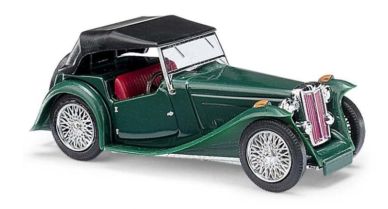 45913  MG Midget TC, Cabrio gesloten, groen, Busch