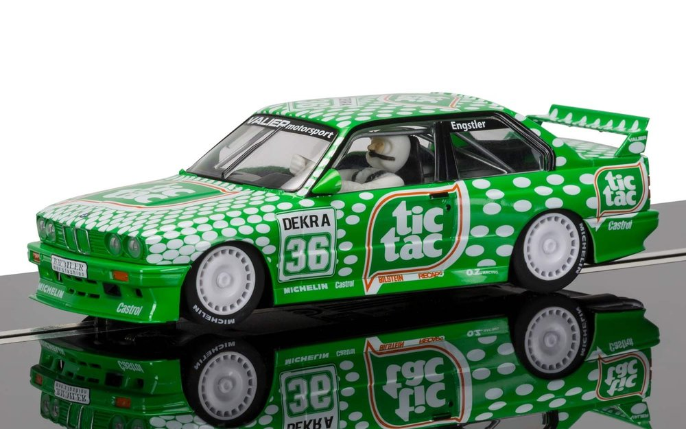 "3865    BMW E30 M3 DTM Race Series, ""Engstler Motorsport, Tic Tac"", Scalextric"