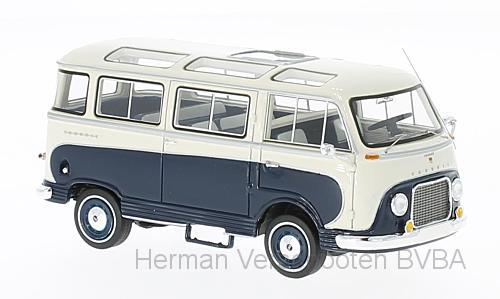 46695  Ford Taunus Transit Panoramabus, blauw/wit, Neoscale Models