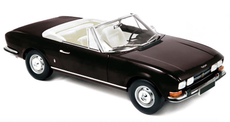 184784  Peugeot 504 Cabriolet 1971, zwart, Norev