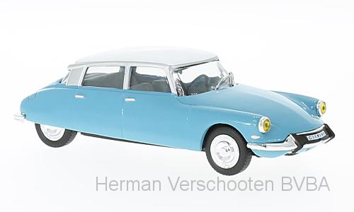 WB229    Citroën DS 19 1966, lichtblauw/wit, Whitebox