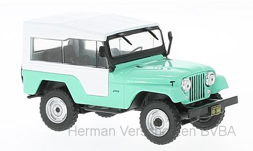 WB234    Jeep CJ-5 1963, lichtgroen/wit, Whitebox