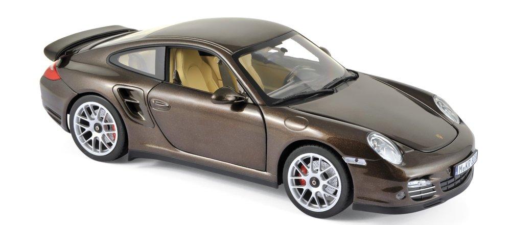 187622  Porsche 911 Turbo 2010, bruin met., Norev