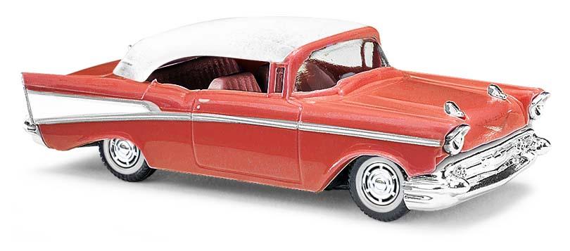 45038  Chevrolet Bel Air Cabriolet, rood, Busch