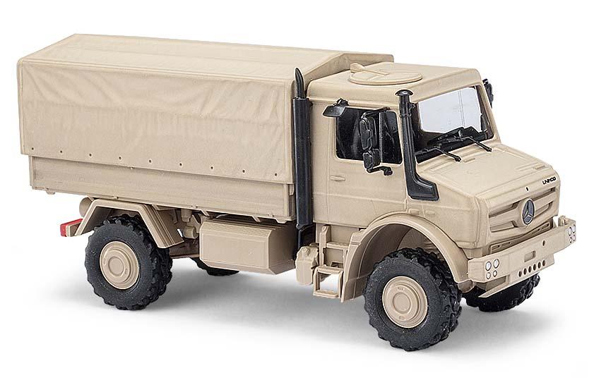 "51020  Mercedes-Benz Unimog U5023 ""Militair, zandkleur"", Busch"