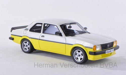 43710  Opel Ascona B i2000 wit/geel, Neoscale Models