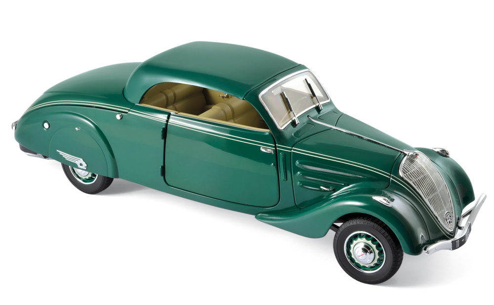 184871  Peugeot 402 Eclipse 1937, donkergroen, Norev