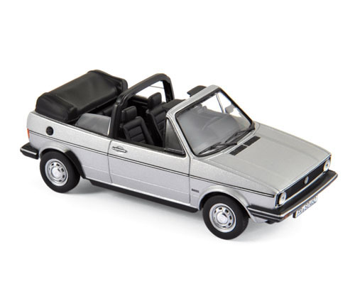 840073  Volkswagen Golf Cabriolet 1981, zilver, Norev