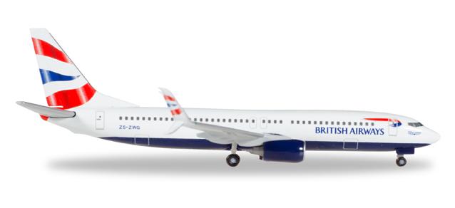 """530408  Boeing 737-800 """"British Air (Comair)"""", Herpa Wings"""