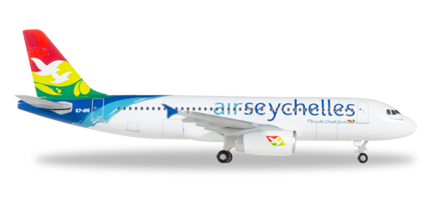 """530439  Airbus A320 """"Air Seychelles"""", Herpa Wings"""