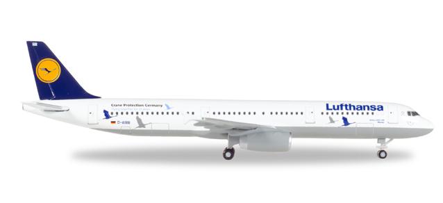 """530491  Airbus A321 """"Lufthansa 25 Jahre Kranichschutz"""", Herpa Wings"""