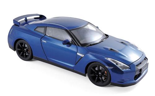 188052  Nissan GTR R-35 2008, blauw, Norev