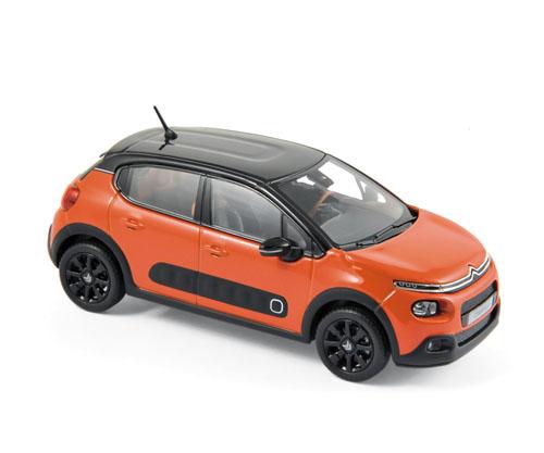 155266  Citroën C3 2016, Poweroranje + zwart dak, Norev