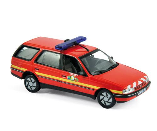 "474553  Peugeot 405 Break 1991 ""Pompiers"", Norev"
