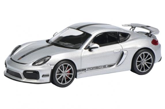 450759300  Porsche Cayman GT4, zilver, Schuco
