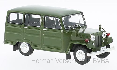 F43-013    Mitsubishi Jeep J30 1961, groen, RHD, First 1:43 Models