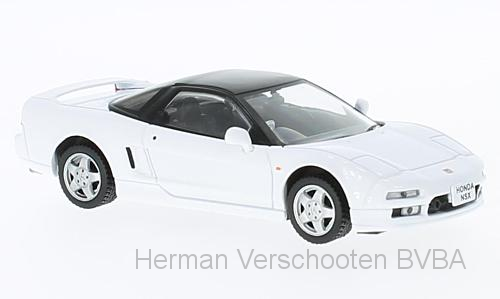 F43-016    Honda NSX 1990, wit/zwart, First 1:43 Models