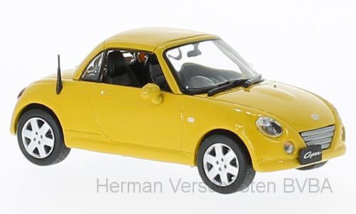 F43-065  Daihatsu Copen 2003, geel, First 1:43 Models