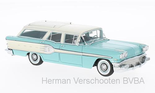 46255  Pontiac Starchief Safari, turquoise/wit, Neoscale Models