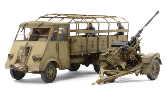 32410  German 3.2ton Truck AHN w/3.7cm FLAK 37 AA Gun, Tamiya