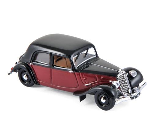 153050  Citroën 11 Légère Coupé de Ville 1935, Donkerrood & zwart, Norev