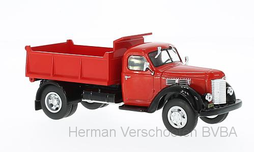 WB223    International Harvester KB 7, rood/zwart, Whitebox