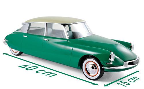121560  Citroën DS 19 1956, Groen & Champagne, Norev (zeer beperkt verkrijgbaar!)