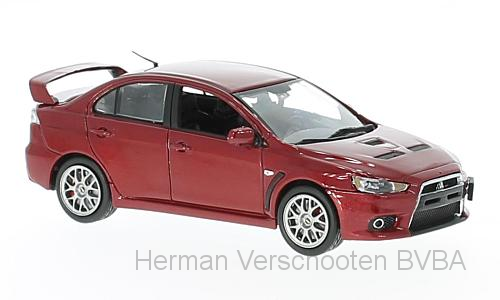 29295L  Mitsubishi Lancer Evolution X, met. rood, Vitesse