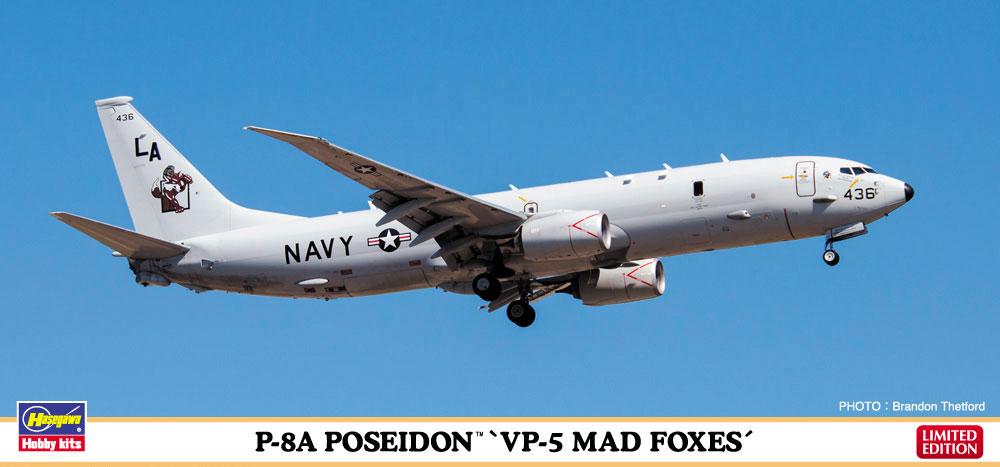 "10822  P-8A Poseidon ""VP-5 Mad Foxes"", Hasegawa"
