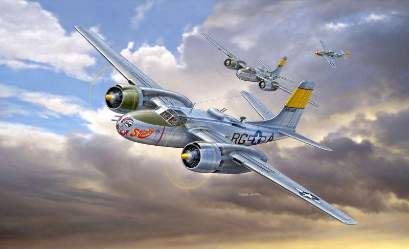 3921  A-26B Invader, Revell