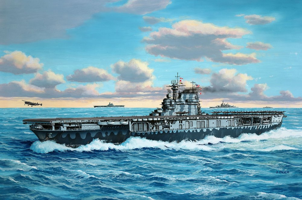 5823  USS Hornet CV-8, Revell
