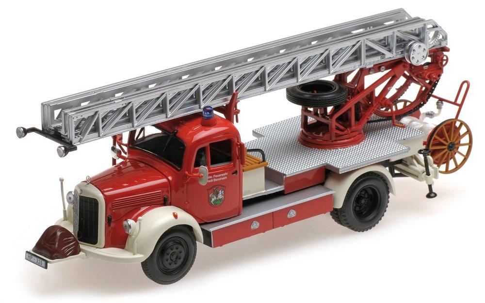 "439350081  Mercedes-Benz L3500 1950, ""Feuerwehr Bensheim"", Minichamps"