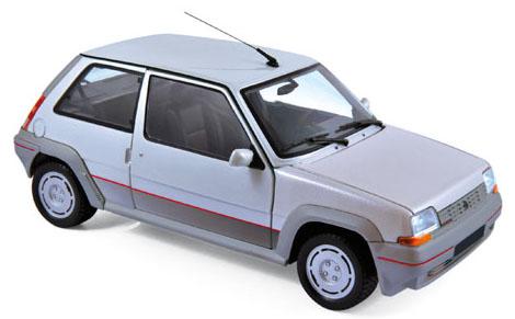 185209  Renault Supercinq GT Turbo 1985, zilver, Norev