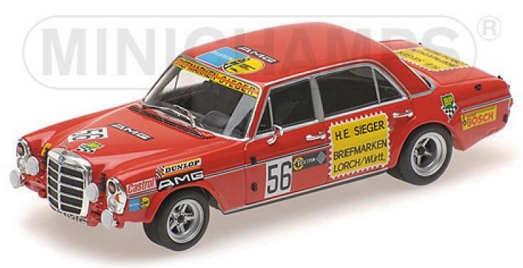 """400723456  Mercedes-Benz 300 SEL 6.8 AMG """"Hans Heyer 200 Meilen Von Nürnberg 1972"""", Minichamps"""