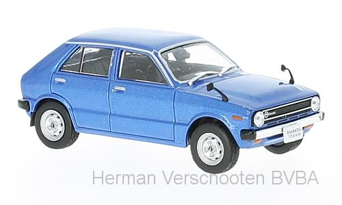 F43-083    Daihatsu Charade G10 1977, blauw, First 1:43 models