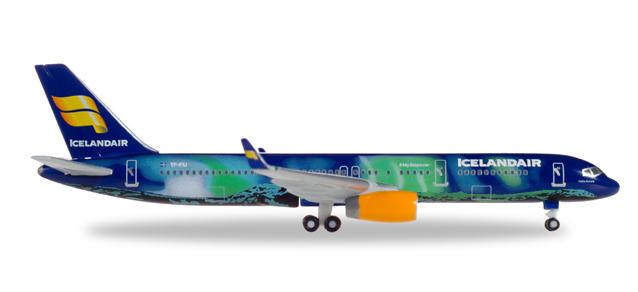 """529129  Boeing 757-200 """"Icelandair Hekla Aurora"""", Herpa Wings"""