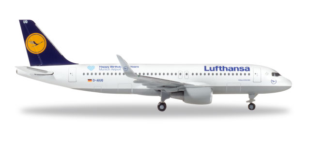 "530699    Airbus A320 ""Lufthansa - Munich Airport 25 Years"", Herpa Wings"