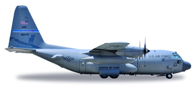 "530651    Lockheed C-130H ""U.S. Air Force, Nevada ANG High Rollers"", Herpa Wings"