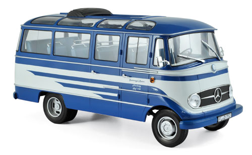 """183412  Mercedes-Benz O319 1960 """"Sturmvogel Reisen"""", blauw/beige, Norev"""