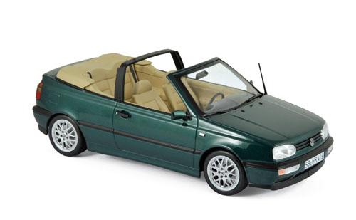 188431  Volkswagen Golf Cabriolet 1995, groen met., Norev