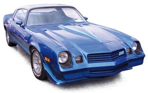 900016  Chevrolet Camaro Z28 1980, blauw met., Norev